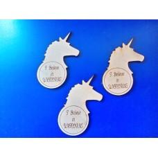 3mm MDF Unicorn Plaque